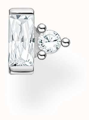 Thomas Sabo Sterling Silver Single Stud Earring | Baguette & Circle Stones H2186-051-14