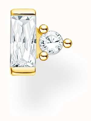 Thomas Sabo Gold Plated Single Stud Earring | Baguette & Circle Stones H2186-414-14