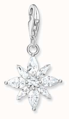 Thomas Sabo Sterling Silver Flower Charm Pendant 1863-051-14