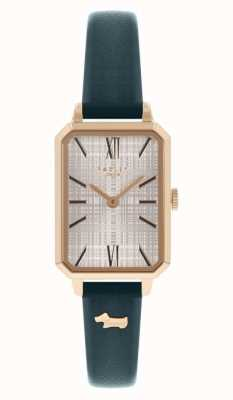 Radley   Women's   Navy Leather Strap   White Rectangle Dial   RY21206