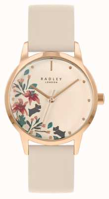 Radley Women's Nude Leather Strap | Nude Floral Dial RY21260A