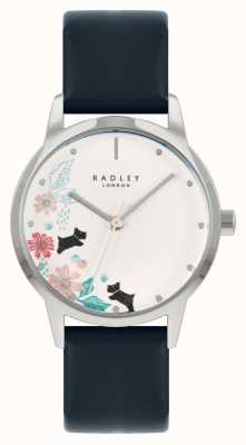 Radley Women's Blue Leather Strap | White Floral Dial RY21229A