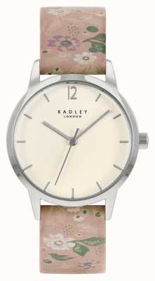 Radley Women's Pink Floral Leather Strap   Cream Dial RY21231A