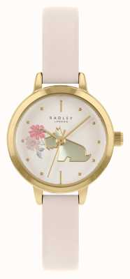 Radley Women's Cream Leather Strap | Cream Dog Motif Dial RY21236A
