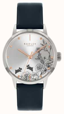 Radley Women's Blue Leather Strap   Silver Dial RY21241A