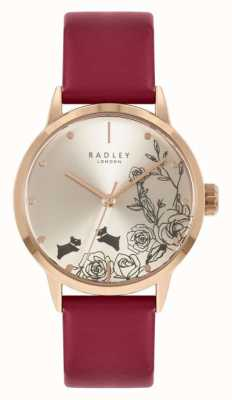 Radley Women's Red Leather Strap | Silver Dial RY21244A
