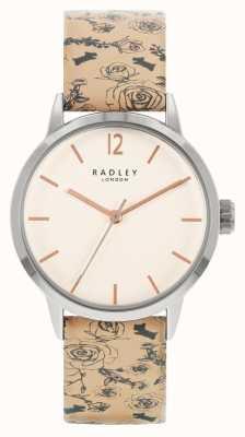 Radley   Women's   Beige Pattern Leather Strap   White Dial   RY21245A