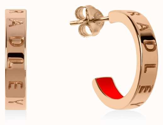 Radley Jewellery Radley Rocks   Rose Gold Plated Small Hoop Earrings RYJ1160S