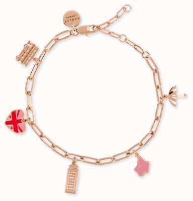 Radley Jewellery Love Letters | Rose Gold Plated London Theme Charm Bracelet RYJ3090S-CARD