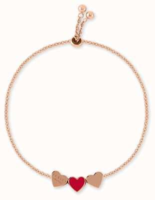 Radley Jewellery Love Letters | Rose Gold Bracelet | Rose & Red Hearts RYJ3092S-CARD