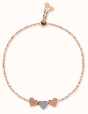 Radley Jewellery Love Letters | Rose Gold Plated Bracelet | Rose & Silver Hearts RYJ3096S-CARD