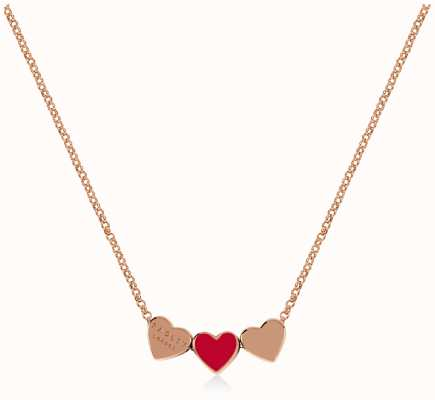 Radley Jewellery Love Letters | Rose Gold Plated Hearts Necklace RYJ2140S-CARD