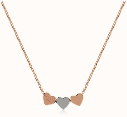 Radley Jewellery Love Letters | Rose Gold Plated Hearts Necklace | Rose & Silver RYJ2144S-CARD