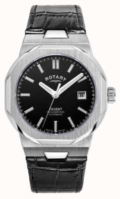 Rotary Men's | Regent | Automatic | Black Dial | Black Leather Strap GS05410/04