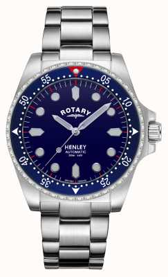 Rotary Men's | Henley | Automatic | Blue Dial | Stainless Steel Bracelet GB05136/05