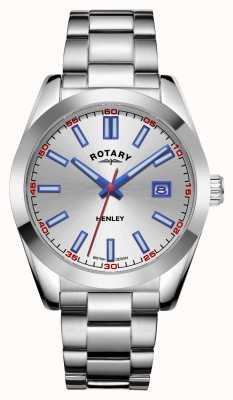 Rotary Mens | Henley | Silver Dial | Stainless Steel Bracelet GB05180/59