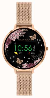 Reflex Active Series 3 Smart Watch | Rose Gold Stainless Steel Mesh  Strap RA03-4038