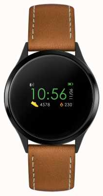 Reflex Active Series 4 Smart Watch | Colour Touch Screen | Brown Strap RA04-1000