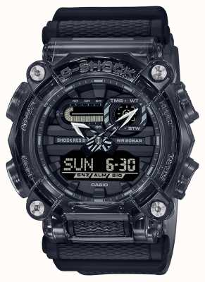 Casio G-Shock | Skeleton Grey Series | Deep Grey Transparent Resin Strap | Grey Dial GA-900SKE-8AER