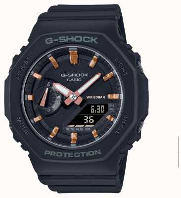 Casio Mid Sized G-Shock | Black Resin Strap | Black Dial GMA-S2100-1AER