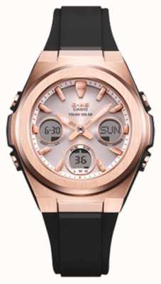 Casio G-Shock | MSG -Rose-Gold IP | Black Resin Strap | MSG-S600G-1AER