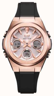 Casio G-Shock | MSG -Rose-Gold IP | Black Resin Strap | MSG-S600G-1AER