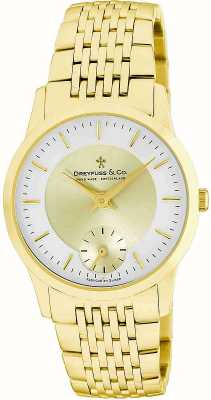 Dreyfuss Mens Gold Plated Stainless Steel Watch DGB00002/03