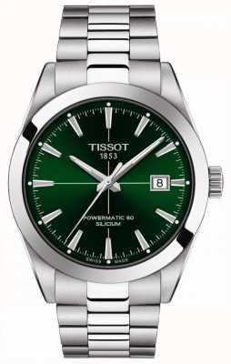 Tissot Gentlemen Auto | Powermatic 80 | Stainless Steel Bracelet | Green Dial T1274071109101