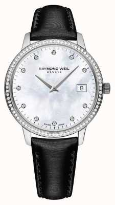 Raymond Weil Toccata   Women's Black Leather Strap   MOP Dial 5388-SLS-97081