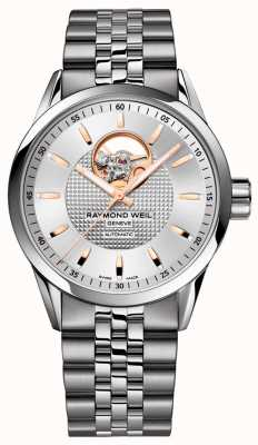 Raymond Weil Freelancer | Men's Stainless Steel Bracelet | Silver Dial 2710-ST5-65021