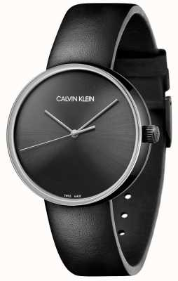 Calvin Klein Women's Black Leather Strap   Black Dial KBL234C1