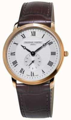 Frederique Constant Men's Slimline | Brown Leather Strap | Silver Dial FC-235M4S4