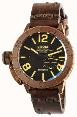 U-Boat Sommerso 46 | Bronze | Ceramic Bezel | Automatic Brown Leather Strap 8486/C