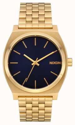 Nixon Time Teller | All Gold / Indigo | Gold IP Bracelet | Indigo Dial A045-2033