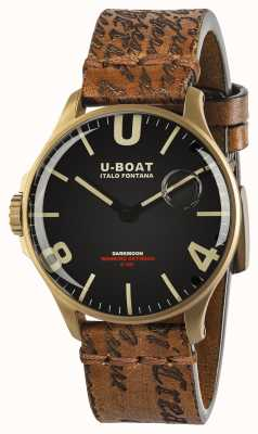 U-Boat Darkmoon 44mm Black Dial | Ion-Plated Bronze | Leather Strap 8467/A