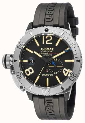 U-Boat Sommerso | Black Rubber Strap Watch 9007/A
