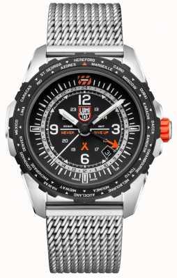 Luminox Bear Grylls Survival Air   GMT   Black Dial   Stainless Steel Mesh   Bracelet XB.3762