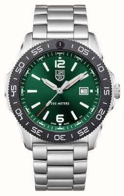 Luminox Pacific Diver   Green Dial   Stainless Steel Bracelet XS.3137