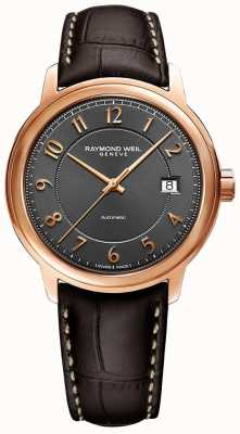 Raymond Weil Maestro | Automatic | Grey Arabic Dial | Brown Leather Strap 2237-PC5-05608