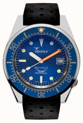 Squale OCEAN | Automatic | Blue Dial | Black Silicone Strap 1521OCN.NT-CINTRB20