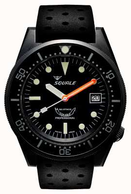 Squale 1521 PVD | Automatic | Black Dial | Black silicone Strap 1521PVD.NT-CINTRB20