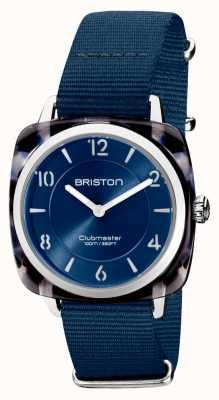 Briston Clubman Chic | Silver 36mm Navy Blue Dial | Navy Blue Nato Strap 21536.SA.UB.33.NMB