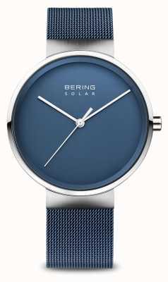 Bering Men's Solar Blue Mesh Bracelet 14339-307