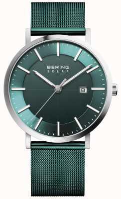 Bering Solar Men's Green Dial Date Watch 15439-808