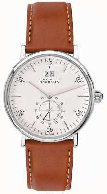 Michel Herbelin Inspiration | Cream Dial | Brown Leather Strap 18247/11GO