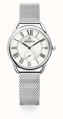 Michel Herbelin Equinoxe   Silver Dial   Stainless Steel Mesh Bracelet 18397/08B