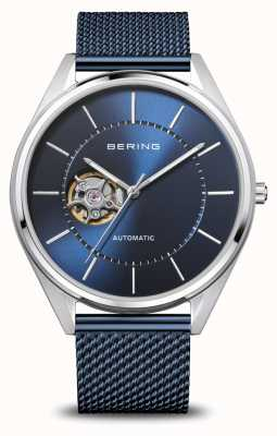 Bering Automatic   Men's   Polished/Brushed Silver   Blue Dial 16743-307
