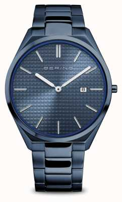 Bering Ultra Slim   Men's   Polished/Brushed Blue   Blue Dial 17240-797