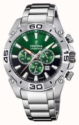 Festina Chronobike 2021 | Green Dial | Stainless Steel Bracelet F20543/3