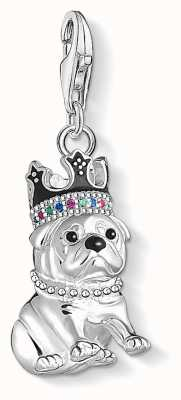 Thomas Sabo Sterling Silver Bulldog With Crown Charm Pendant 1510-497-21